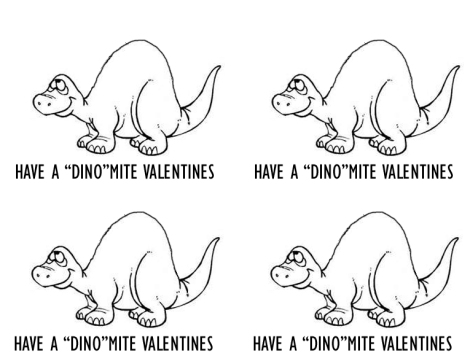 DINO Valentines